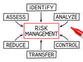 Risk Management Flow Chart Red Marker — Stock Photo