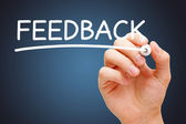 Feedback White Marker — Stock Photo