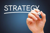 Strategy White Marker — Stock Photo
