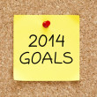 Goals 2014 Sticky Note — Stock Photo