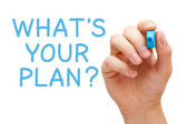 What is Your Plan — Stock Photo