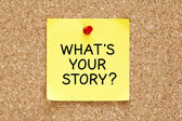 Whats Your Story Sticky Note — Foto de Stock