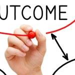 Outcome Flow Chart — Stock Photo #42412309