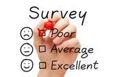 Pesquisa de avaliação pobre — Foto Stock