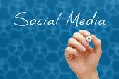 Sociální média koncept bílá značka — ストック写真