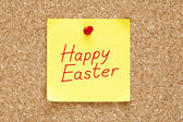 Happy Easter Sticky Note — Stock fotografie