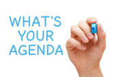 What is Your Agenda — Stock Photo