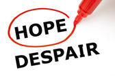 Hope or Despair Red Marker — Stock Photo