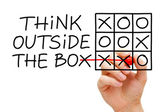 Think Outside The Box Tic Tac Toe Concept — Stock Photo