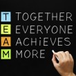 TEAM Together Everyone Achieves More — Stock Photo