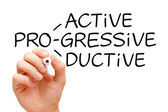 Proactive Progressive Productive — Stock Photo