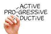 Proactive Progressive Productive — Stock Photo