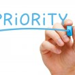Priority Blue Marker — Stock Photo #46241471