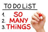 Zo veel dingen te doen lijst — Stockfoto