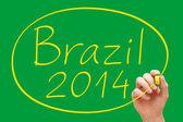 Brezilya 2014 el yazısı — Stok fotoğraf