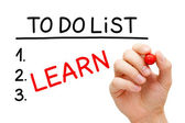 Learn To Do List — Stock Photo