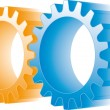 Colorful gears set — Stock Vector #1689768