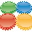 Colorful gears set — Stock Vector #1689777
