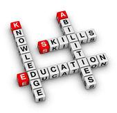 Dovednosti, znalosti, schopnosti, vzdělání — Stock fotografie