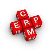 Erp 和 crm 的符号 — 图库照片