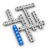 Career crossword puzzle — Stock Photo