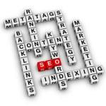 SEO crossword — Stock Photo #44933683