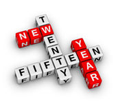 Twenty fifteen new year — Stock Photo