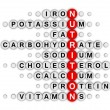 Постер, плакат: Nutrition facts crossword