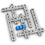 SEO crossword — Stock Photo #46169297