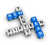 Vingt quinze nouvelle année — Photo