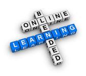 Online blended learning — Stock Photo