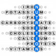 Nutrition facts crossword — Stock Photo