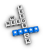 We want feedback — Stock Photo