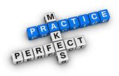 Practice makes perfect — Stock Photo