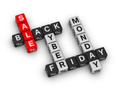 Black friday and cyber monday — Stock Photo