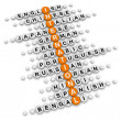 International crossword — Stock Photo #49174835