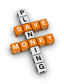 Save money planning — Stock Photo