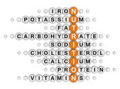Nutrition facts crossword — Stockfoto