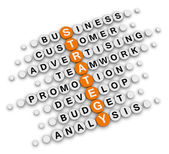 Business strategy crossword — Stok fotoğraf