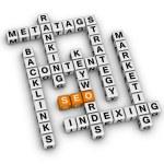 SEO crossword — Stock Photo #49474753