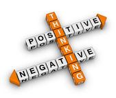 Positive and negative thinking — 图库照片