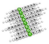 Business strategy crossword — Stock Photo