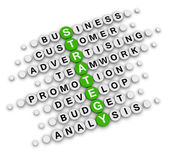 业务战略填字游戏 — 图库照片