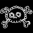 Royalty-Free Stock Obraz wektorowy: Skull doodle vector cute in tattoo style