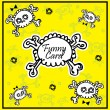 Royalty-Free Stock Vector Image: Very cute Skull with bow on background with place for copy text