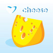 Pieces Of Cheese. love Cheese card — Image vectorielle