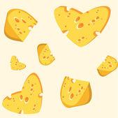 Peynir sorunsuz arka seviyorum — Stok Vektör