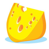 Piece Of Cheese — Stock Vector