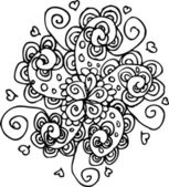 Vector flower tattoo background — Stock Vector