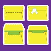 4 Envelope Vector decor for invitations — Stock Vector